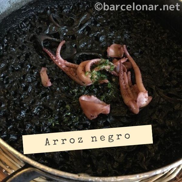 バルセロナ・ラスキンザニッツのパエリア(arroz negro)