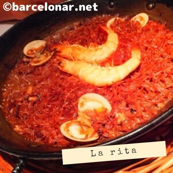バルセロナのレストラン(ラ・リタ)