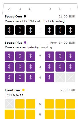 ブエリングvueling座席選択の追加料金