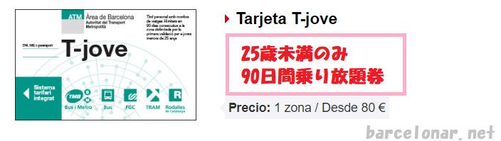 バルセロナのメトロ切符・T10に代わる回数券Tjoveホーベ