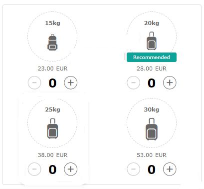 ブエリング航空の受託手荷物の重さと追加料金・vueling
